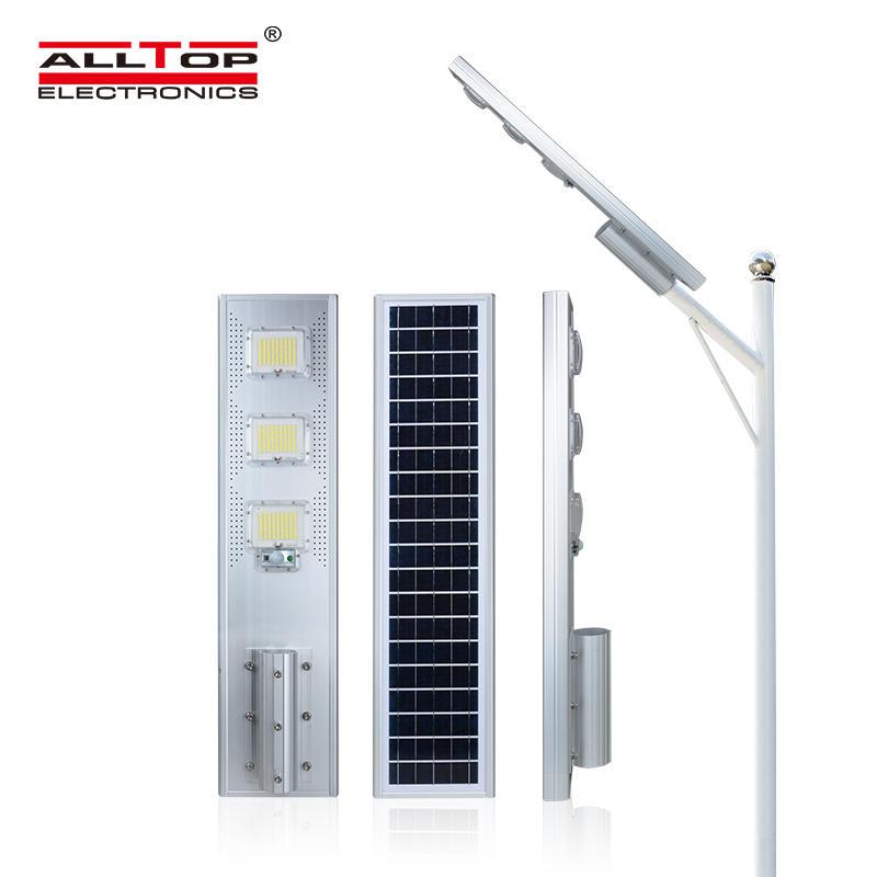 ALLTOP High quality die cast aluminum ip66 waterproof garden road 60 120 180 watt all in one led solar street light