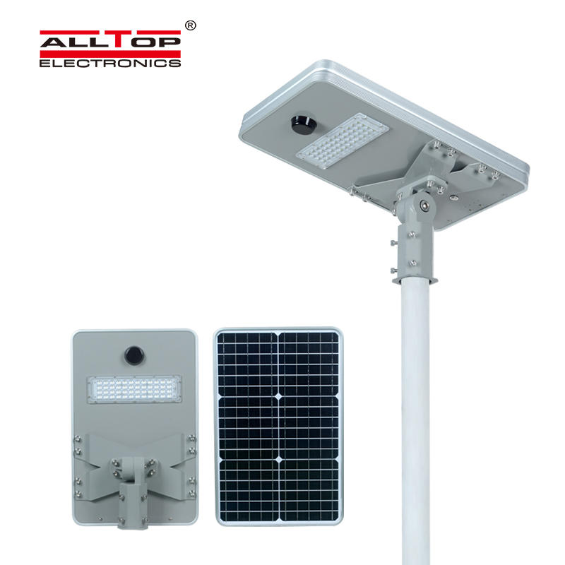 ALLTOP Super bright aluminum outdoor lighting ip65 smd 50w 100w 150w 200w integrated all in one led solar street light