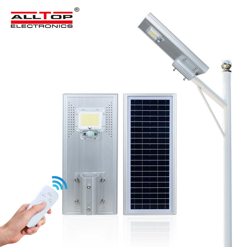 ALLTOP Best selling ip65 waterproof aluminum smd 60w 120w 180w all in one solar led street lamp