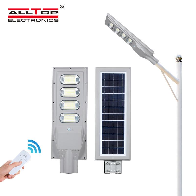 ALLTOP Low price ip65 solar panel radar sensor 30w 60w 90w 120w 150w all in one led solar street lamp