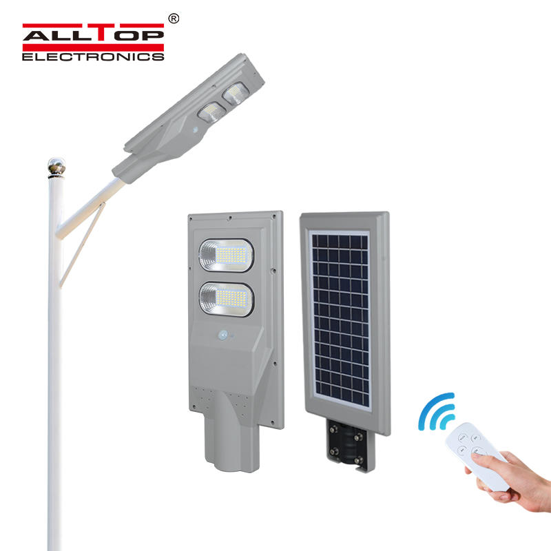 ALLTOP High quality ABS motion sensor ip65 outdoor 30w 60w 90w 120w 150w all in one solar led street light prices