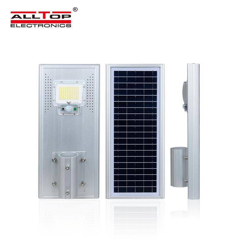 ALLTOP High power outdoor waterproof ip65 motion sensor 60w 120w 180w all in one solar led street lamp