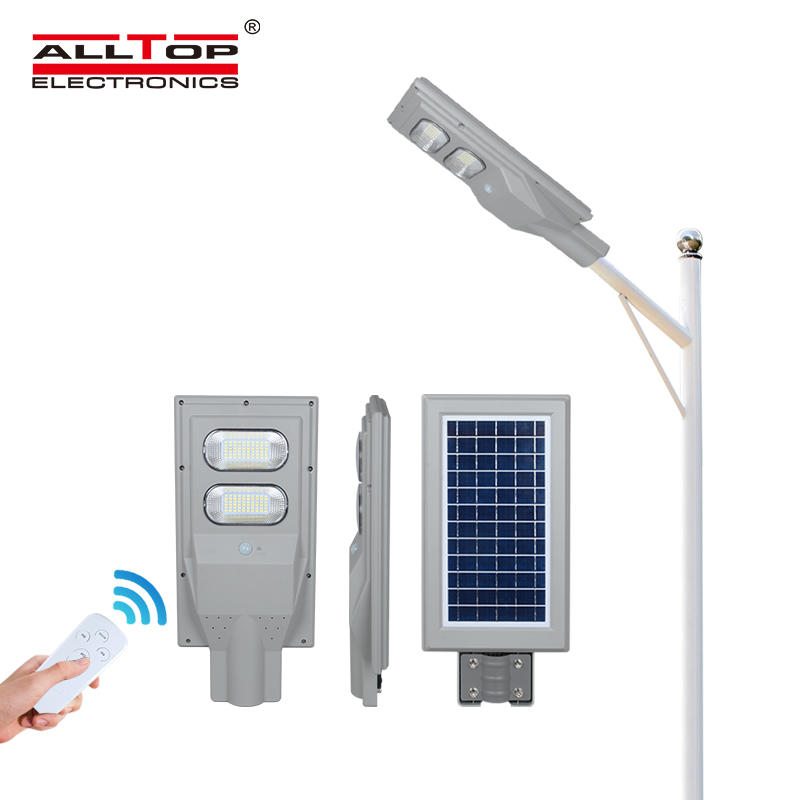 ALLTOP High quality high lumen outdoor roadway lighting ip66 30w 60w 90w 120w 150w all in one solar led street light lamp