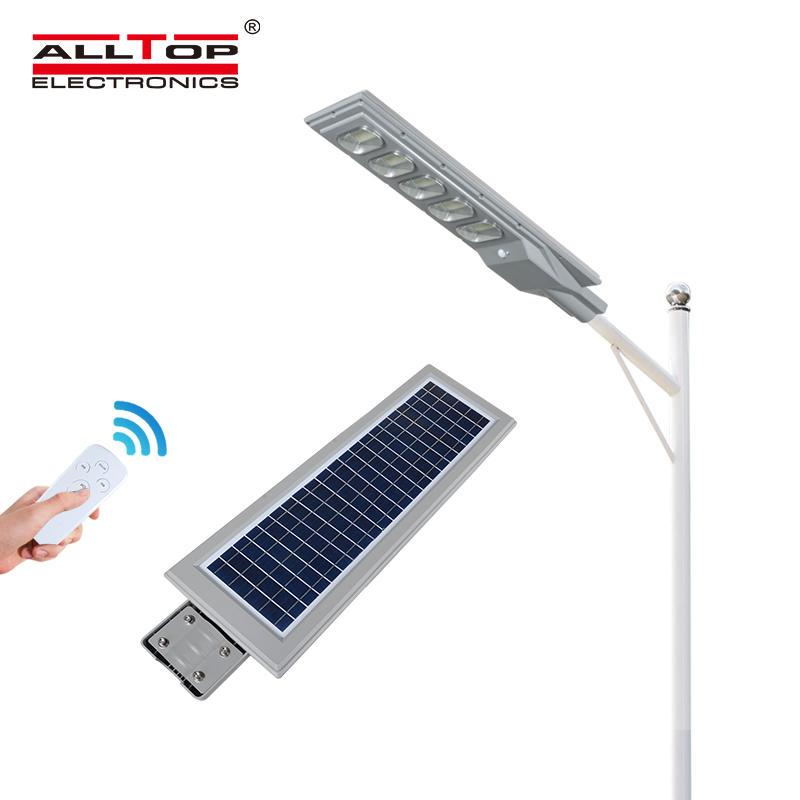 ALLTOP ABS outdoor 30w 60w 90w 120w 150w ip65 waterproof solar powered all in one led solar street light