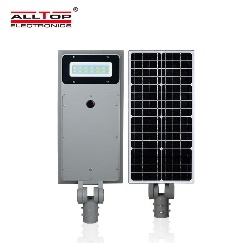 ALLTOP China supplier outdoor waterproof ip65 40w 60w 100w all in one led street light price list