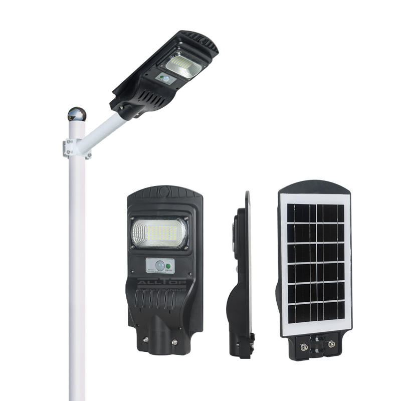 ALLTOP China manufacturer ip65 outdoor SMD 30w 60w 90w all in one solar led street light