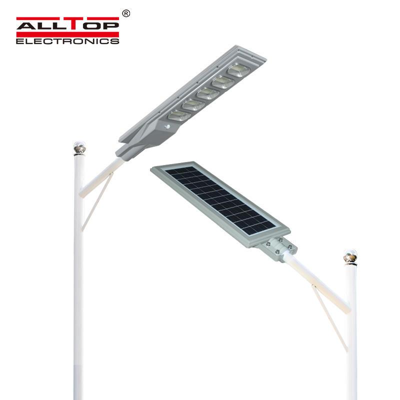 ALLTOP China Supplie Outdoor Waterproof Ip65 30 60 90 120 150 Watt All In One Solar Led Street Lamp
