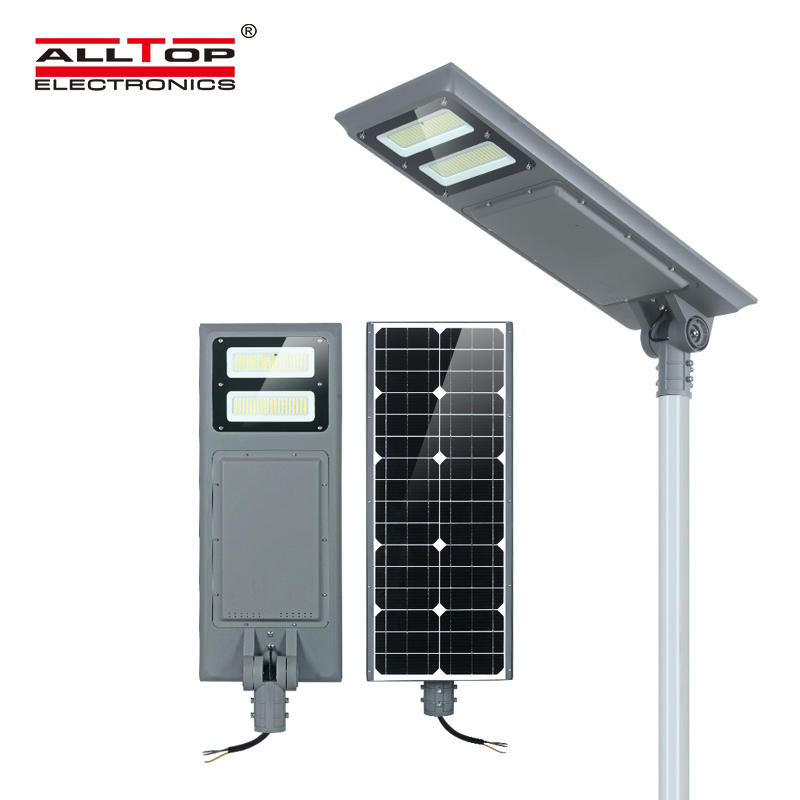 ALLTOP High lumen waterproof ip65 outdoor smd 100w integrated all in one solar led garden light
