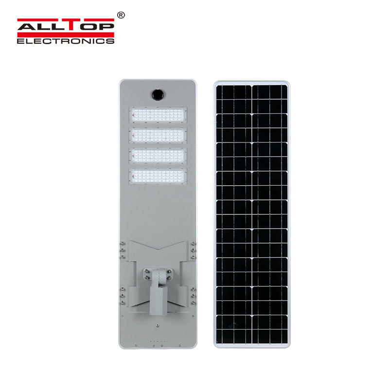 ALLTOP Energy saving outdoor road lighting waterproof ip65 smd 50w 100w 150w 200w integrated all in one led solar street light