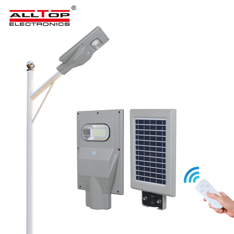 ALLTOP Outdoor IP66 ABS all in one smd integrated 30 60 90 120 150 watt module all in one solar led street lamp