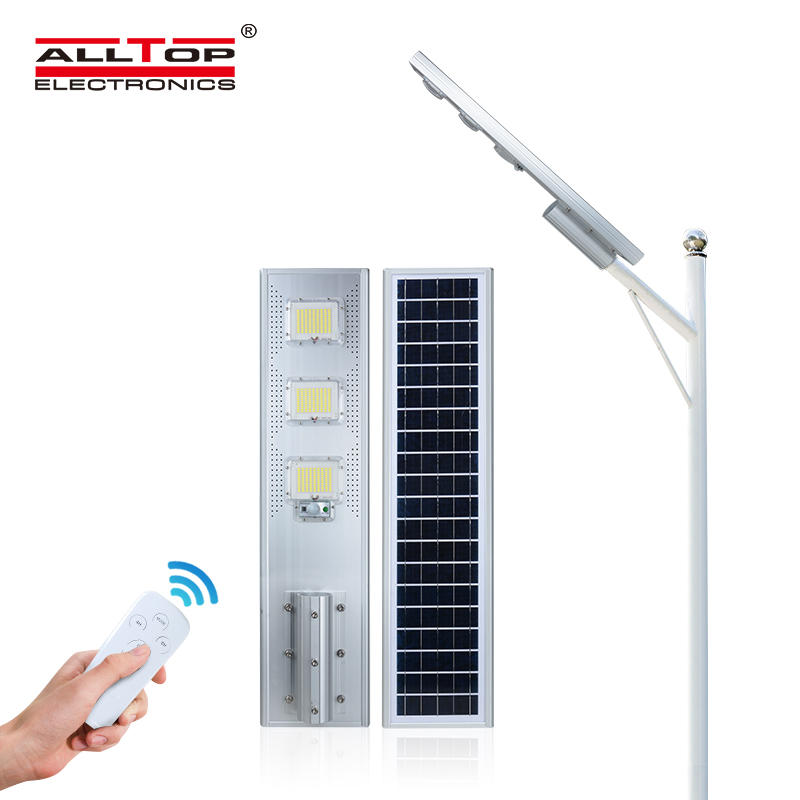 ALLTOP High quality human body induction IP65 waterproof outdoor smd 60w 120w 180w integrated all in one solar led street light