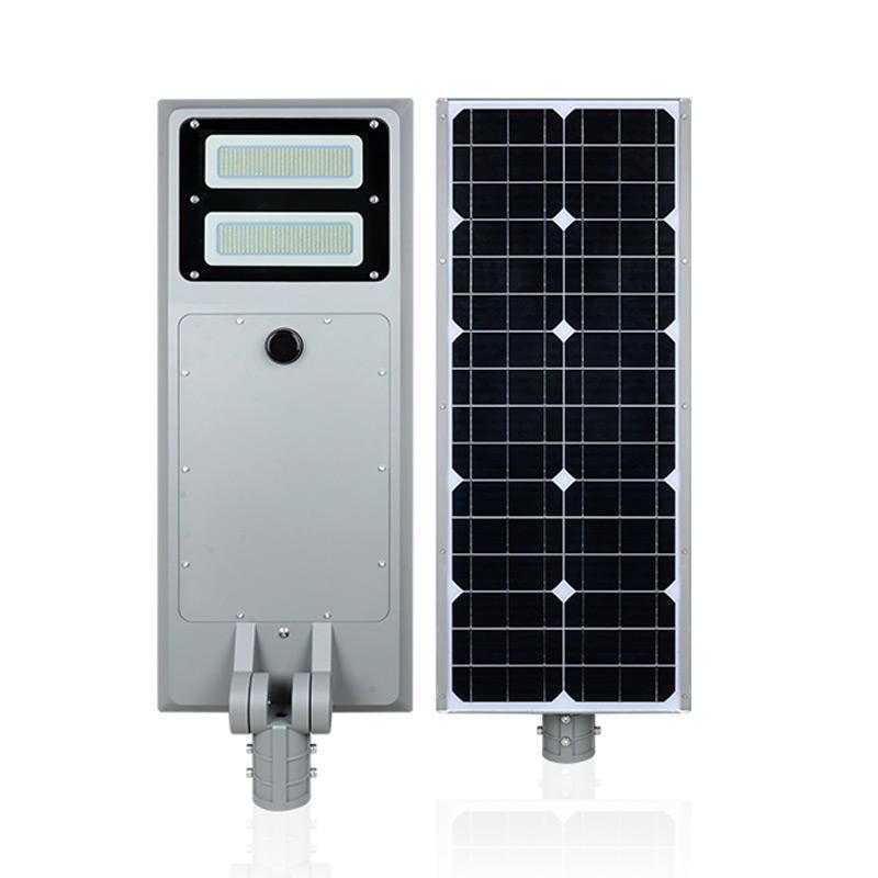 ALLTOP High lumen 60w 100w IP65 outdoor integrated intelligent sensor all in one solar led street light