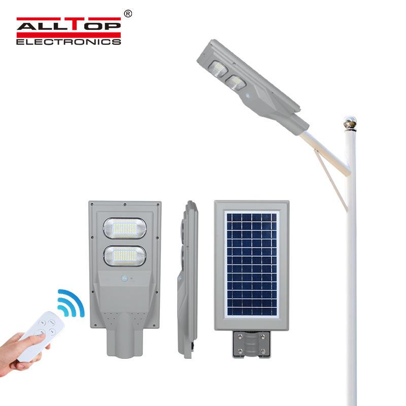 ALLTOP China factory wholesale price high power MPPT solar controller 30 60 90 120 150 watt all in one solar led street light