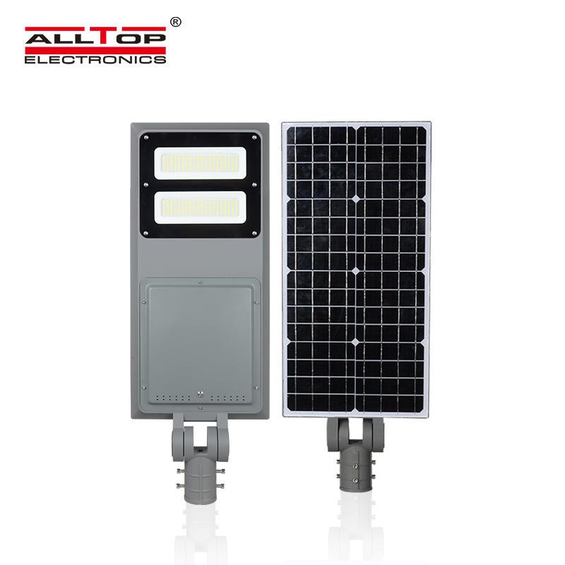 ALLTOP IP65 Outdoor waterproof integrated fixture road lighting 40 60 100 watt all in one solar led streetlight