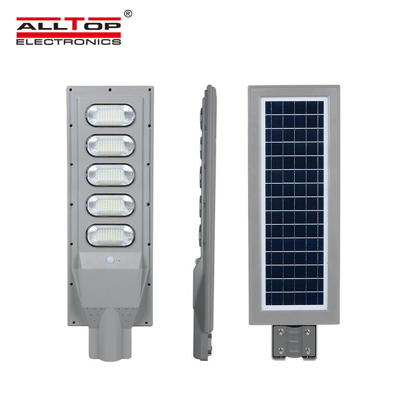 ALLTOP Ip65 outdoor waterproof Bridgelux ABS smd 30w 60w 90w 120w 150w all in one led solar streetlight