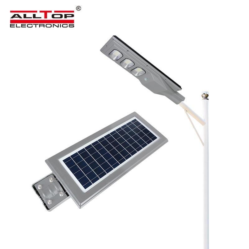 ALLTOP High lumen outdoor IP65 waterproof solar panel integrated 30 60 90 120 150 watt all in one led street light