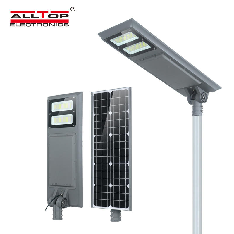 ALLTOP All in one Integrated 100watt ip65 outdoor waterproof smd solar led street light price