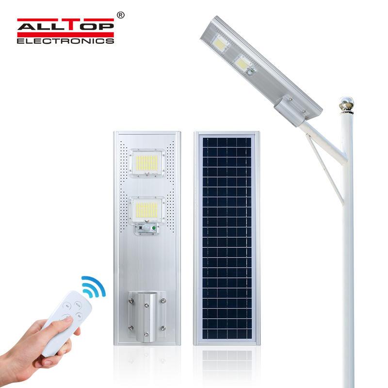 ALLTOP Super brightness high lumen ip65 outdoor 60w 120w 180w all in one solar led street light