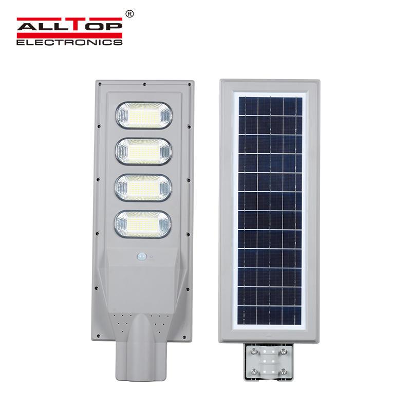 ALLTOP Human body sensor outdoor waterproof IP65 30watt 60watt 90watt 120watt 150watt all in one solar led street light