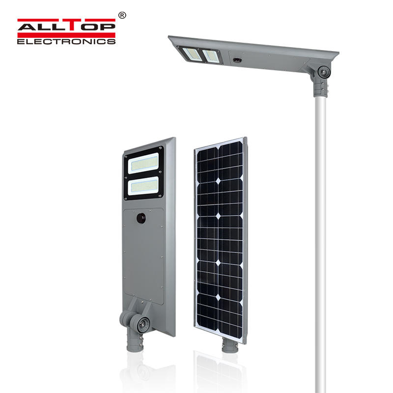 ALLTOP Ip65 waterproof energy saving 60w 100w all in one solar led street lamp