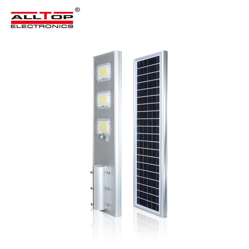 ALLTOP MPPT solar charge controller outdoor IP65 motion sensor 60w 120w 180w all in one solar streetlight