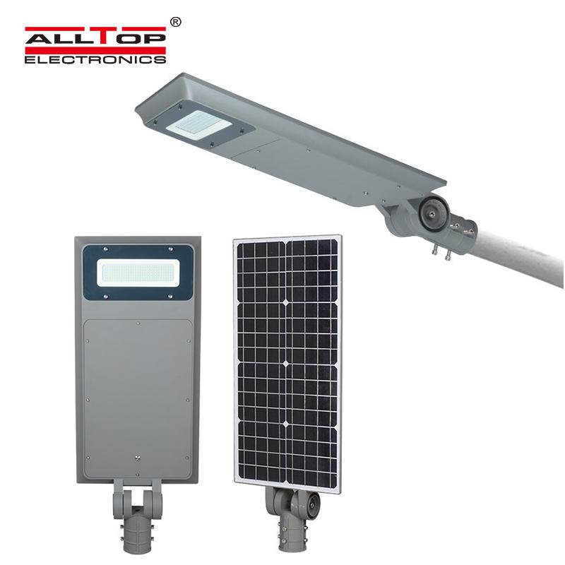 ALLTOP Outdoor Adjustable angle 30w 40w 60w integrated aluminum led solar street light