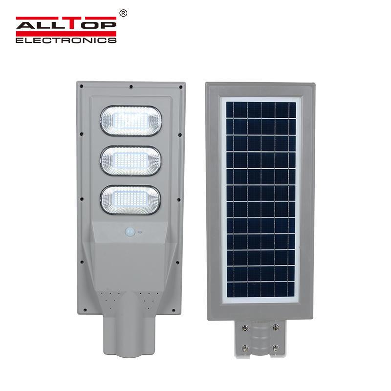 ALLTOP Ip65 Waterproof Outdoor Lighting Integrated 30w 60w 90w 120w 150w all in one led solar street lamp
