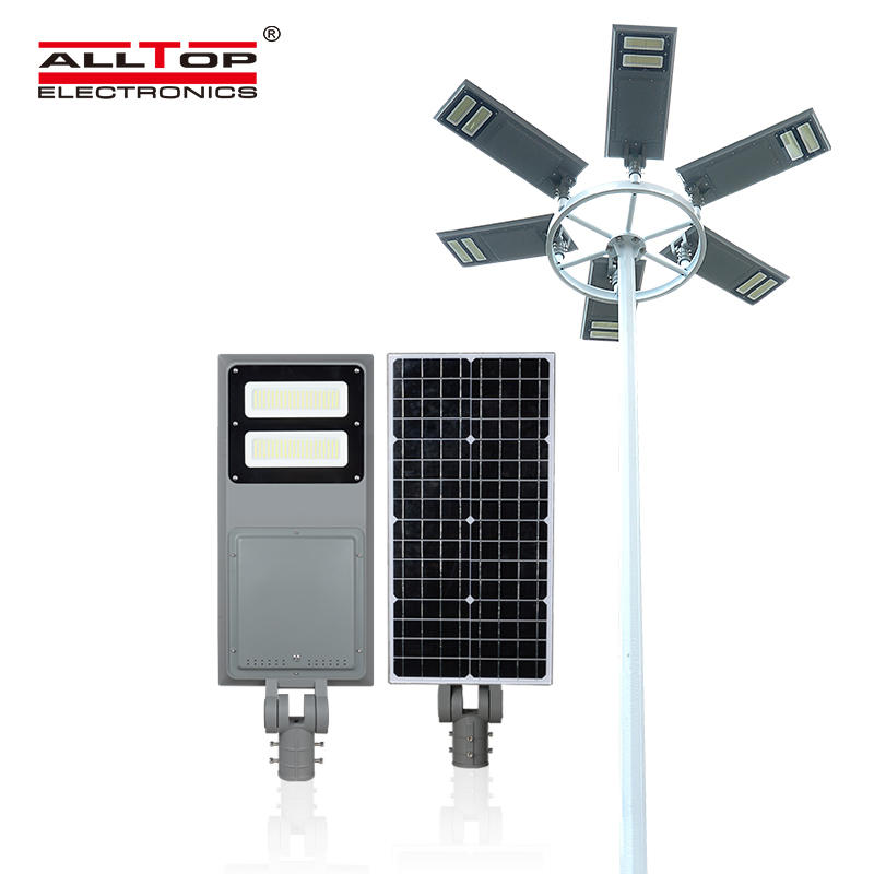 ALLTOP High brightness outdoor lighting IP65 waterproof aluminum 40w 60w 100w led integrated all in one solar street light