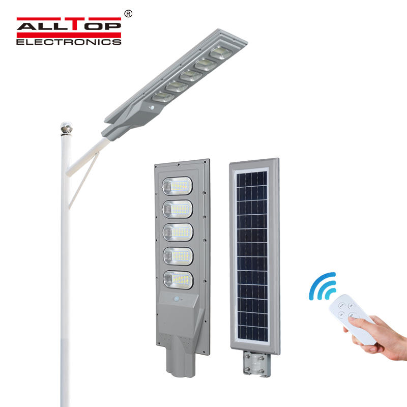 ALLTOP High quality brightness waterproof 30 60 90 120 150 watt all in one solar led street light price list