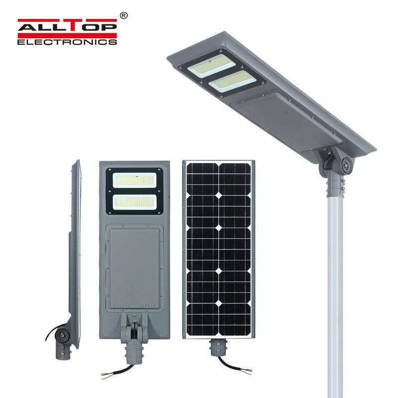 ALLTOP High power waterproof ip65 outdoor smd 100w integrated solar led garden lamp
