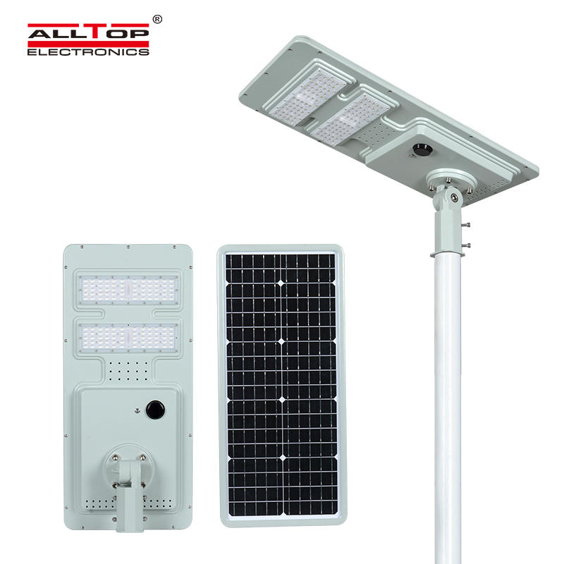 ALLTOP High quality waterproof outdoor lighting ip65 smd integrated 40w 60w 120w 180w all in one led solar street light