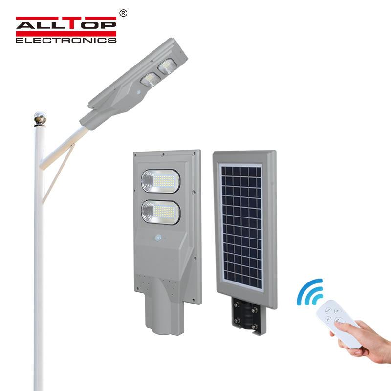ALLTOP Factory Price outdoor high lumen integrated 30watt 60watt 90watt 120watt 150watt all in one solar led street lamp