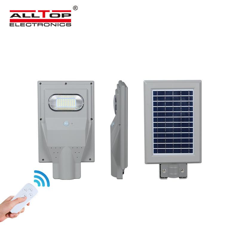 ALLTOP High lumen IP65 waterproof parking lot smd 30w 60w 90w 120w 150w dimmable all in one solar led street light