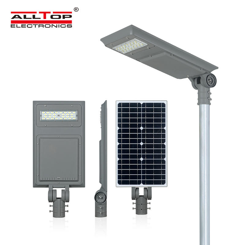 ALLTOP High lumen IP65 outdoor mounted smd 40w 60w100w integrated all in one solar led street light