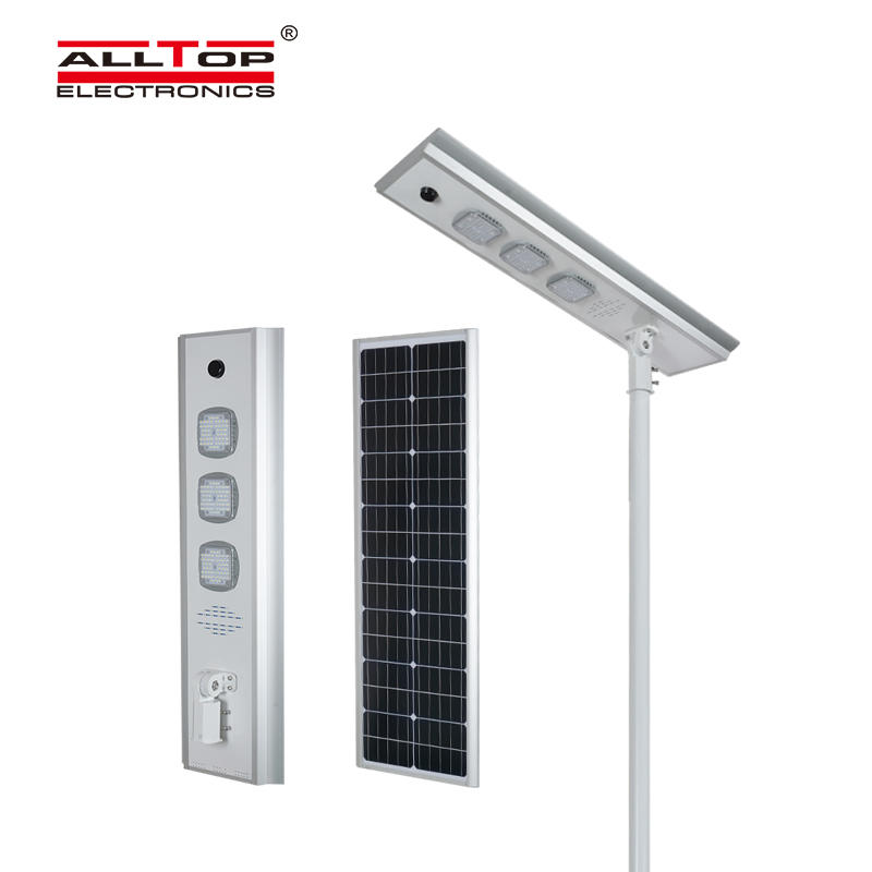 ALLTOP Energy saving waterproof outdoor lighting ip65 smd 50w 100w 150w integrated all in one led solar street light