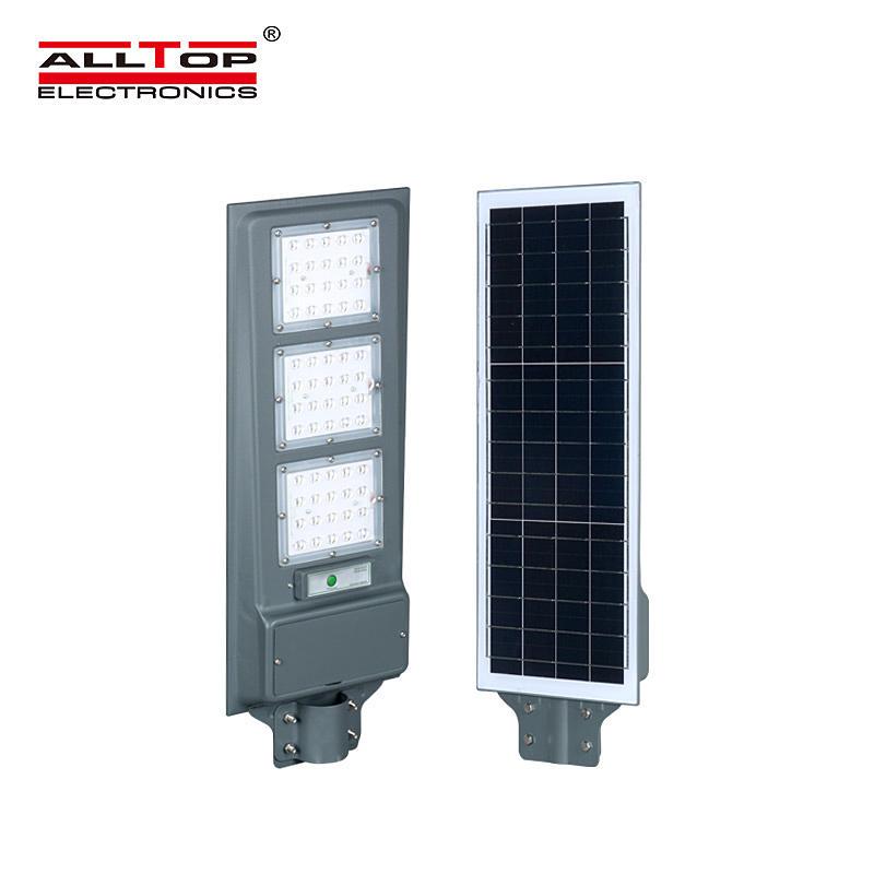 ALLTOP High quality garden lighting Bridgelux smd outdoor ip65 20w 40w 60w all in one led solar street light
