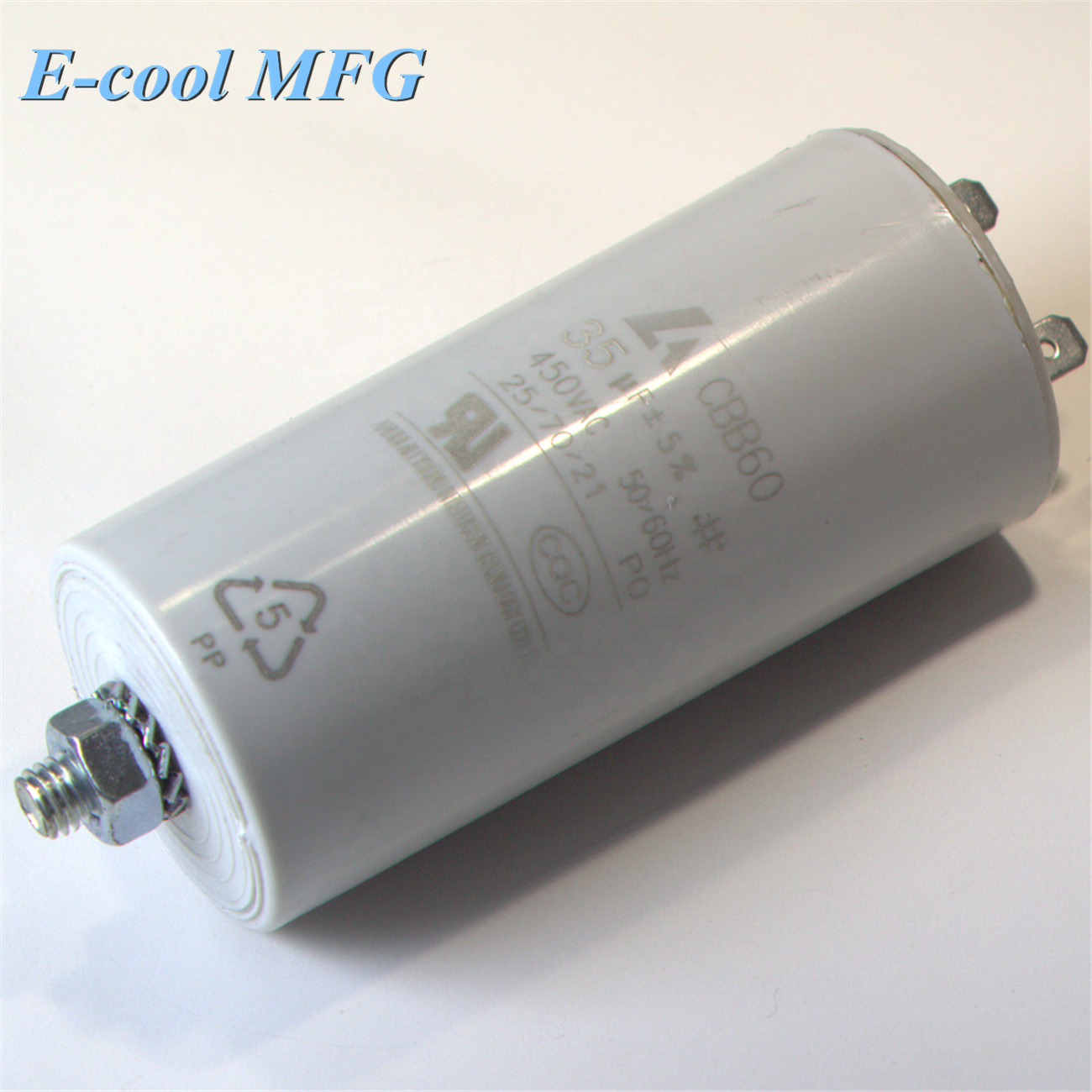 CBB60 450V AC 20uF 50/60Hz Motor Start Running Capacitor for Ceiling Extractor Fan Air Conditioner Device