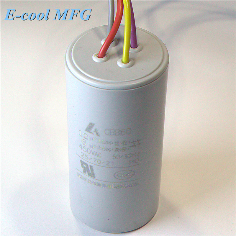 Compressor start cbb60 sh capacitor 450v 6uf 12uf
