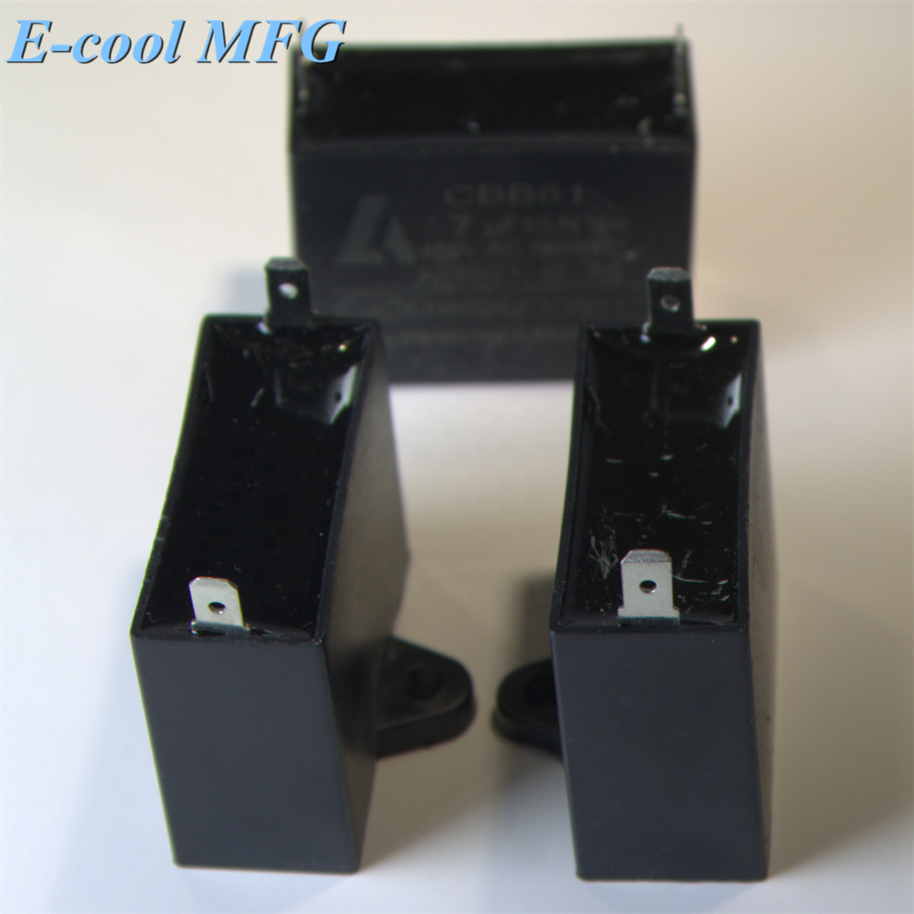 Capacitor/Motor Capacitor 50/60Hz 4uF CBB61 450 vac, with Cable