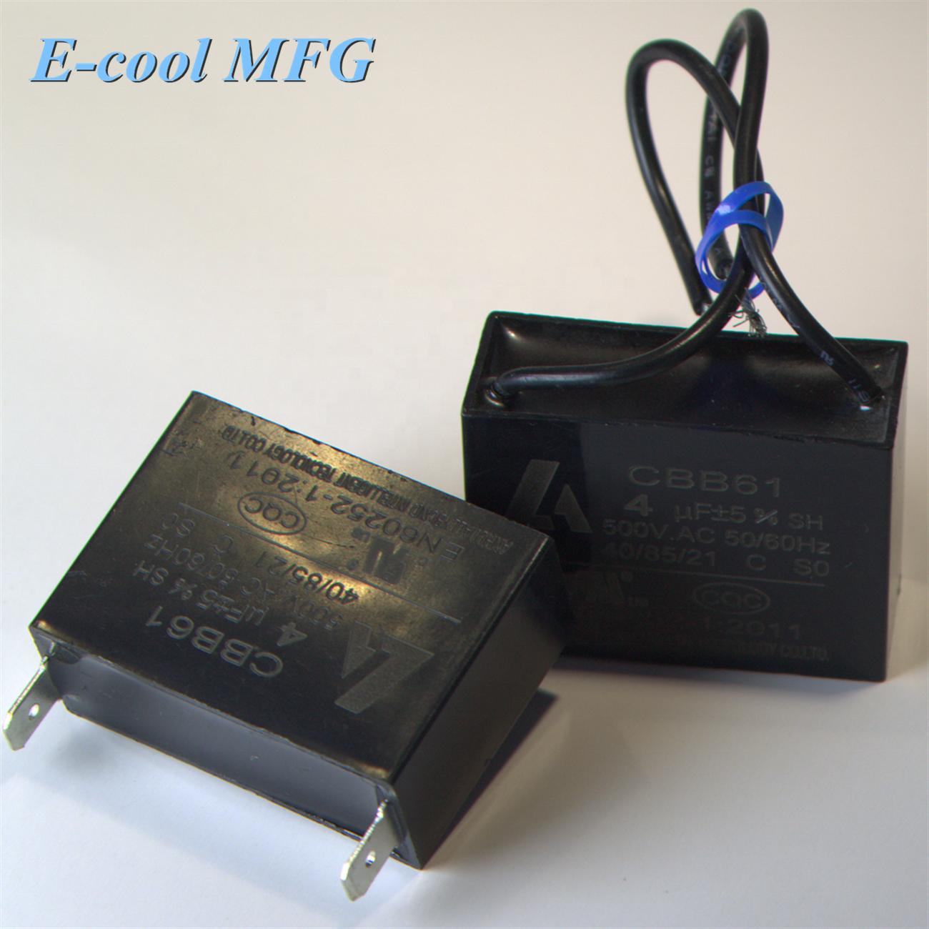 Cbb61 1.2uf 450 vac capacitor motor start