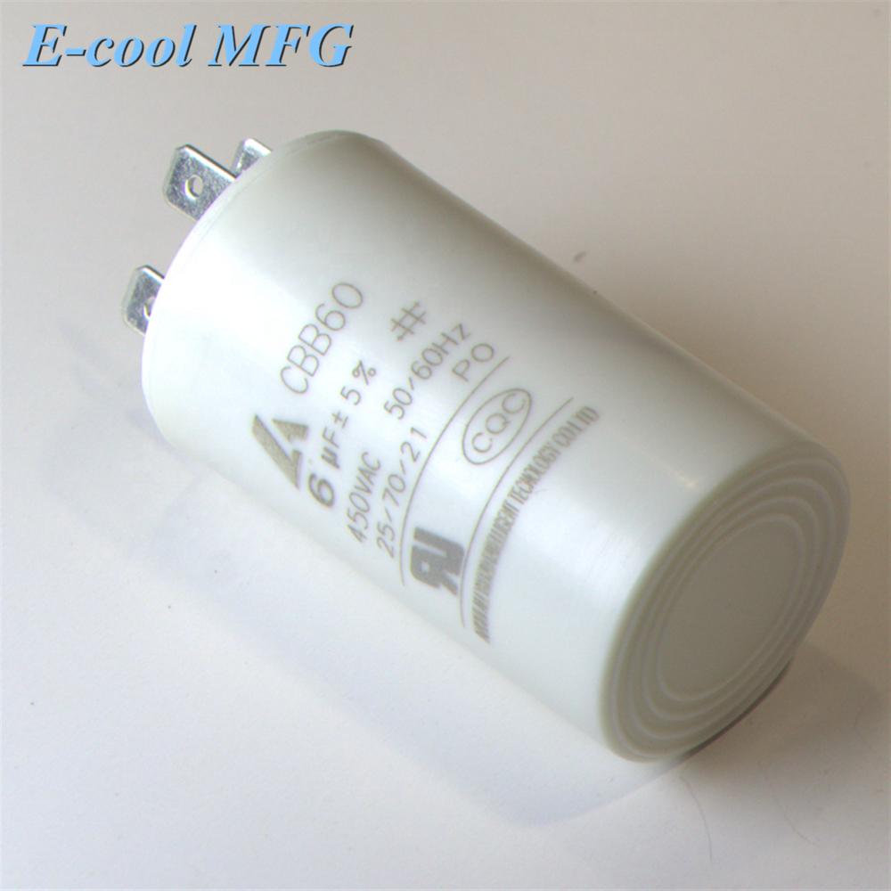 High Quality motor 100uf 450vcapacitor CBB60 refrigerator compressor ac motor run capacitors