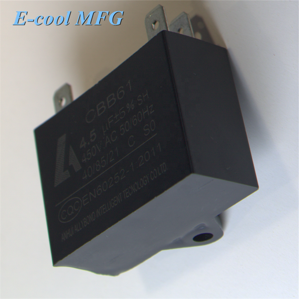 CBB61 Capacitor for Fans Motors 1 UF 450Vac