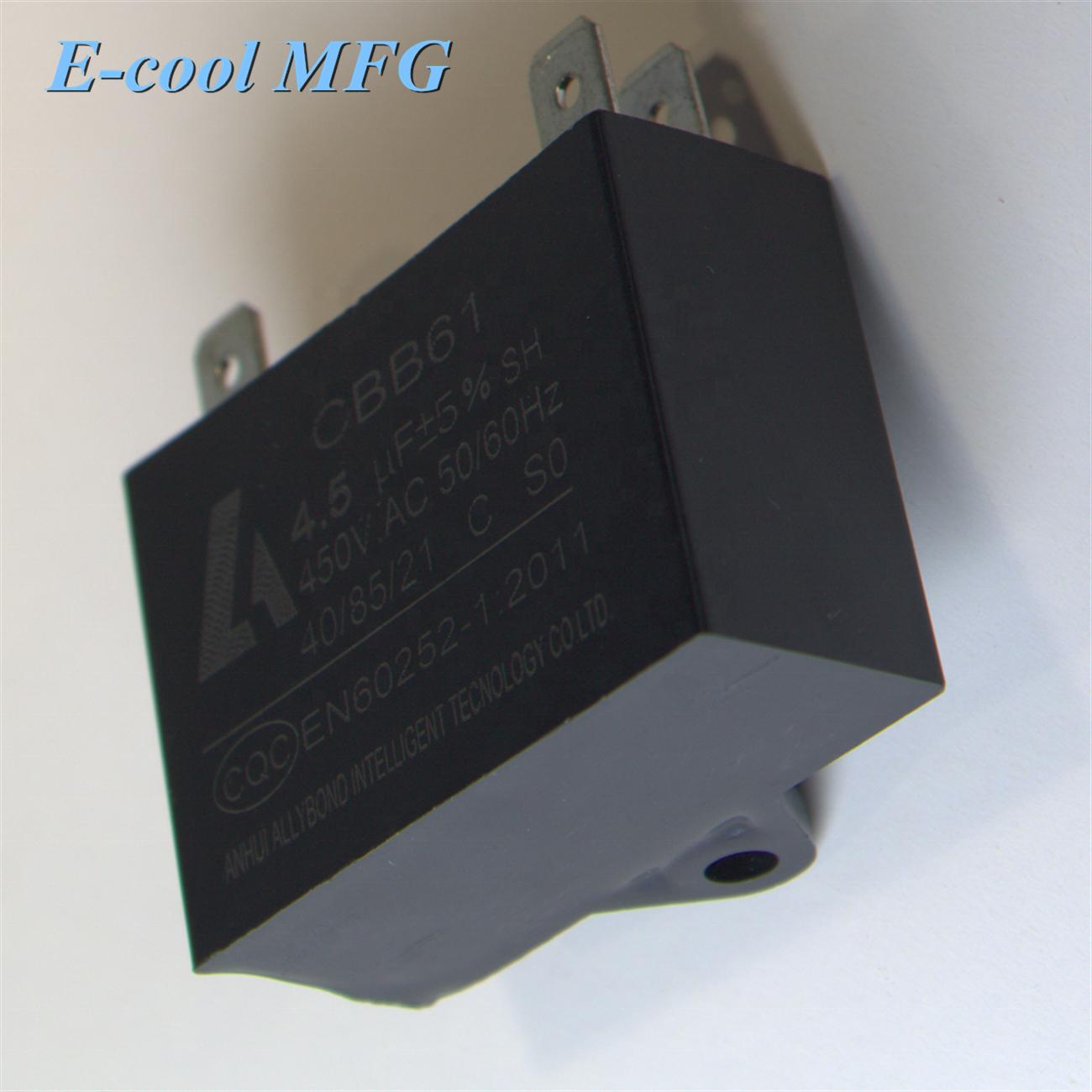 Cbb61 1.5uf 450 vac capacitor motor start