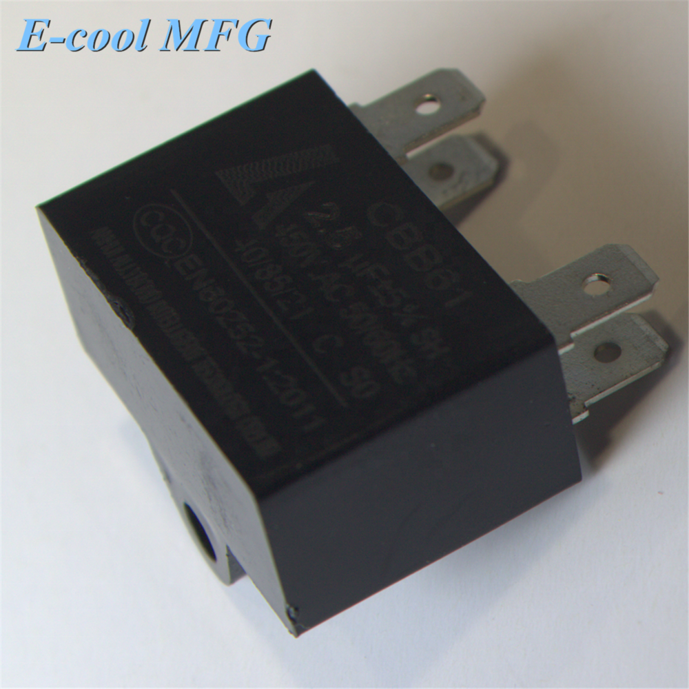 Cbb61 AC 450v 1.5uf wired capacitor motor for various fan engines