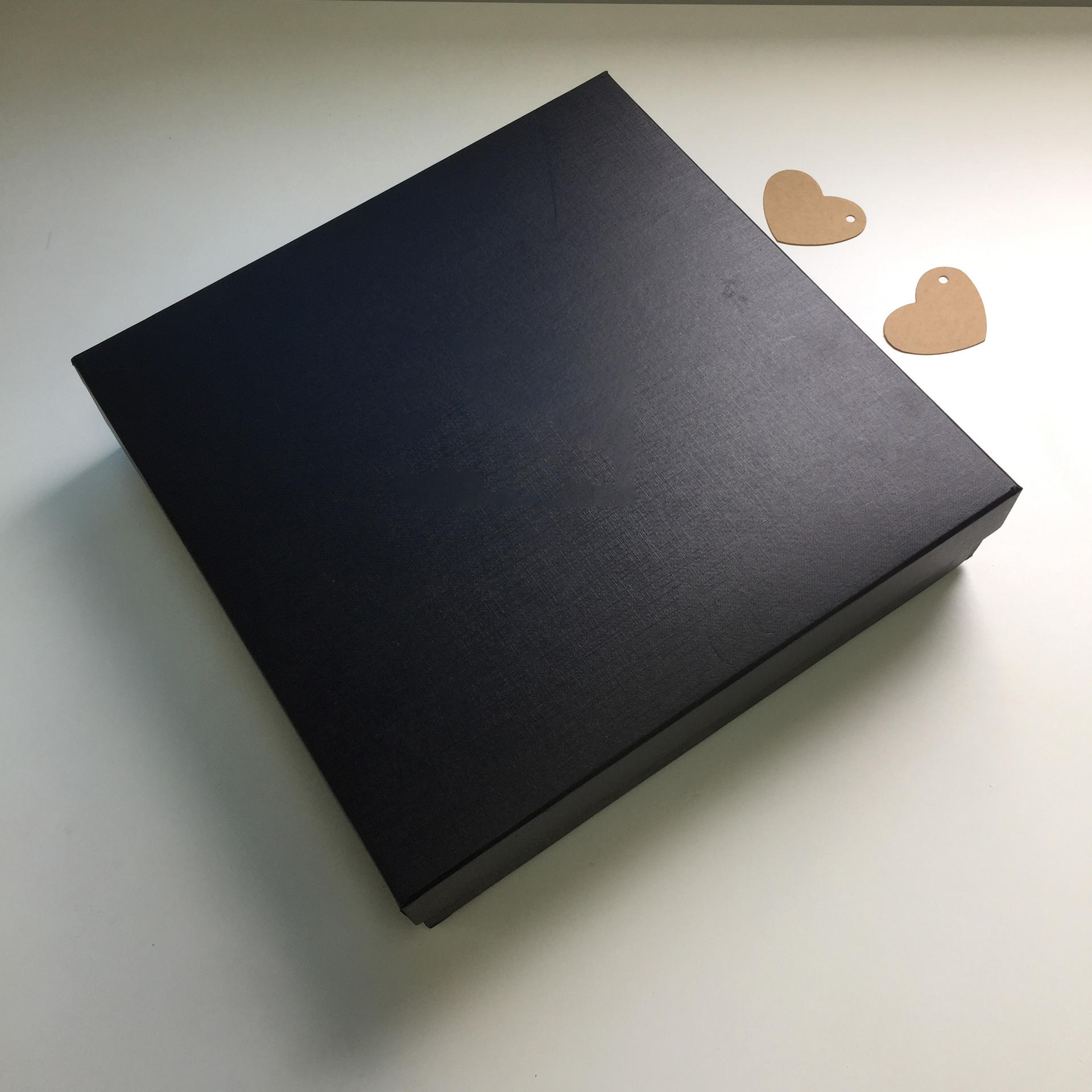 Large Black Paper Cardboard Lid Custom Clothing Gift Boxes With Logo