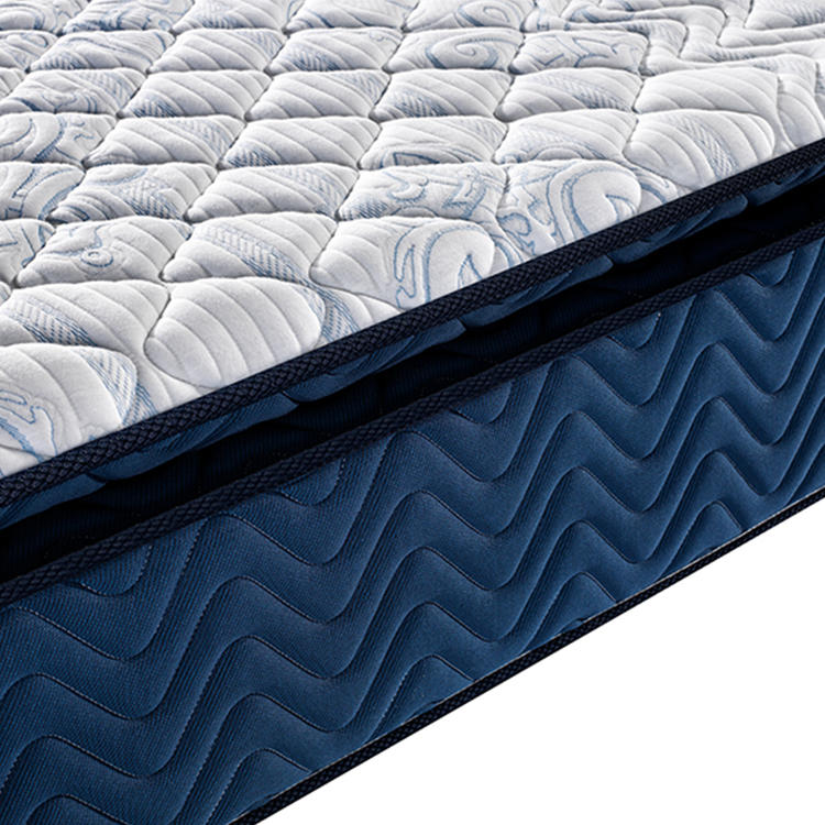 Anti-mite Quilted Fabric Double Size Pillow Top Unique Design Pocket Spring Mattress