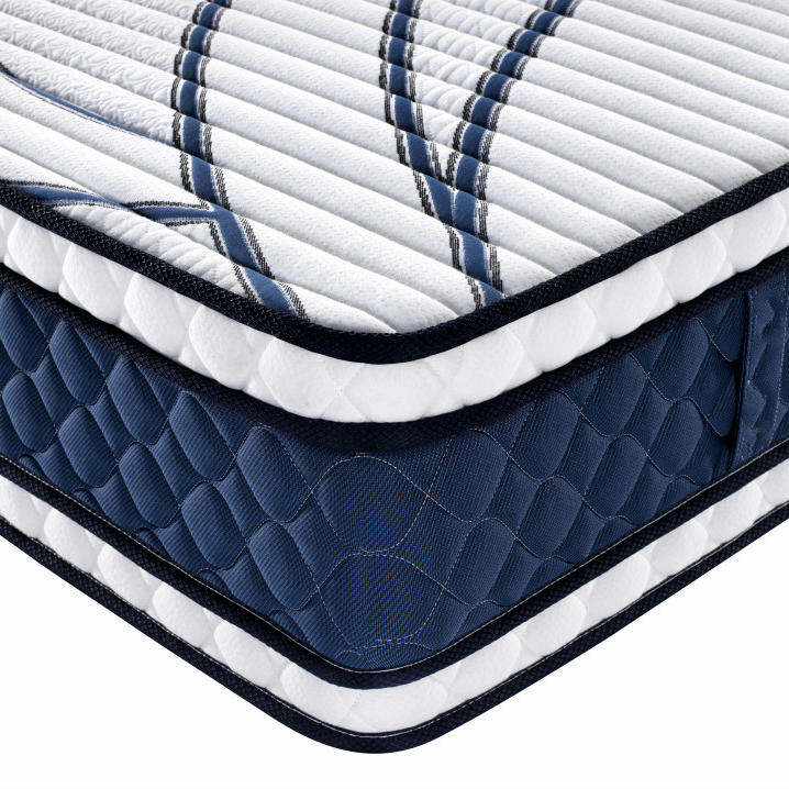 Twin Size BedMemory Foam LatexDouble Euro Top Bonnell Spring Mattress