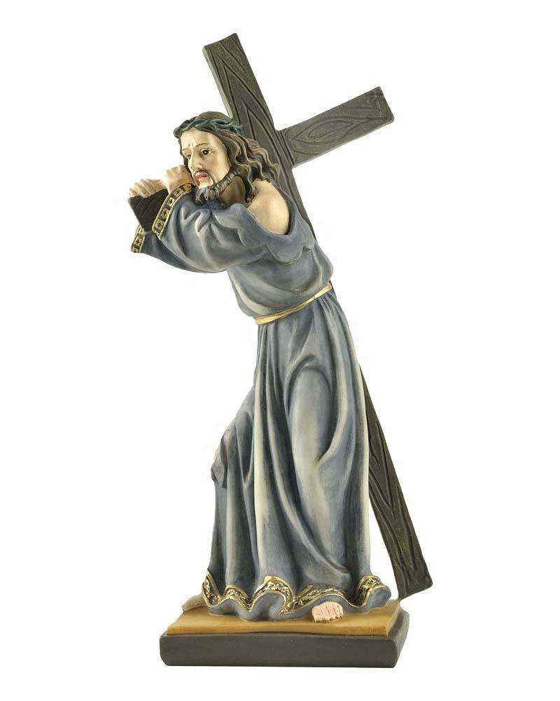 Stock Products Jesus Carring Cross on the Way to Calvary Statue