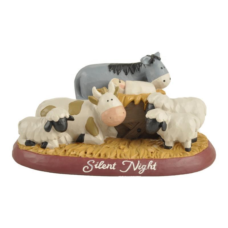 Custom Handmade Mini Baby Jesus Statues Catholic Resin Craft Christmas Nativity Set Figurines for Religious Gift Home Decoration