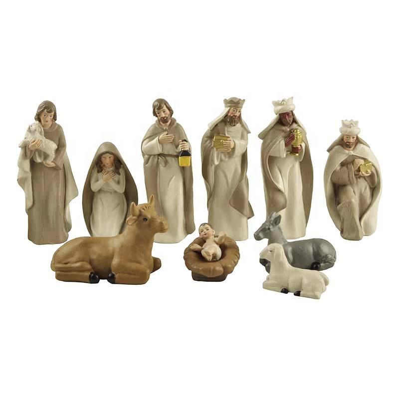 Stock Products Polyresin Traditional Christian Crafts Nativity Set of 10 pcs figurines